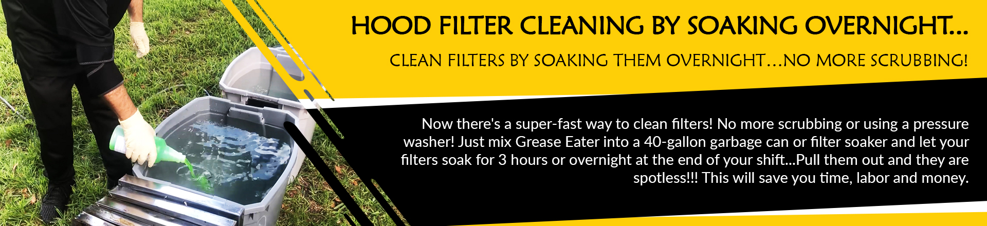 Clean Filters By Soaking