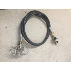 Duct Cleaner / Spin Jet w 8' Hose, quick disconnects & shutoff Ball Valve