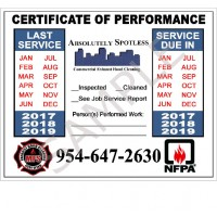 """Hood Stickers - High Grade Vinyl, Full Color, 4"""" x 5"""", NFPA compliant - Pack of 50"""